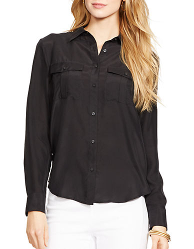 LAUREN RALPH LAUREN Long-Sleeved Cotton-Silk Shirt