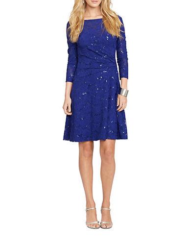 LAUREN RALPH LAURENSequined Faux-Wrap Dress