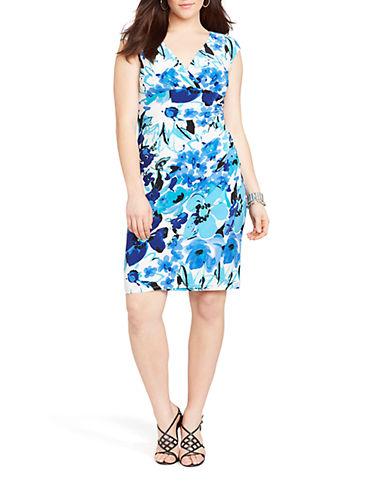 Lauren Ralph Lauren Plus Floral Jersey Empire Dress
