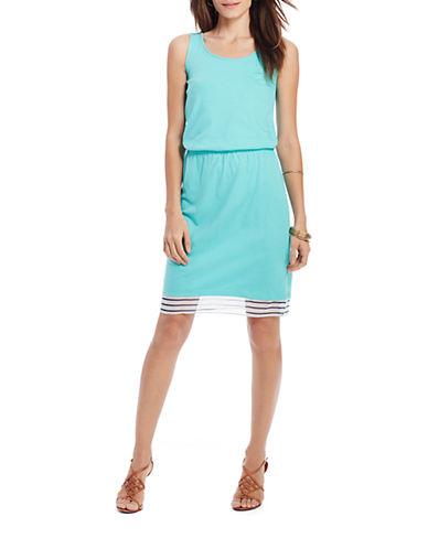 Shop Lauren Ralph Lauren online and buy Lauren Ralph Lauren Sleeveless Scoopneck Dress dress online