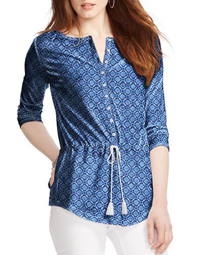 Lauren Ralph Lauren Plus Geo-Print Jersey Tunic