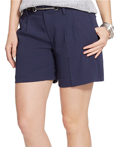 Lauren Ralph Lauren Plus Pleated Crepe Shorts