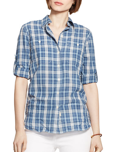 LAUREN RALPH LAURENPlaid Cotton Shirt