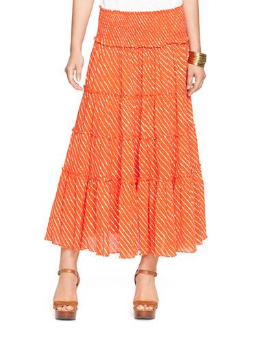 LAUREN RALPH LAURENTiered Striped Skirt