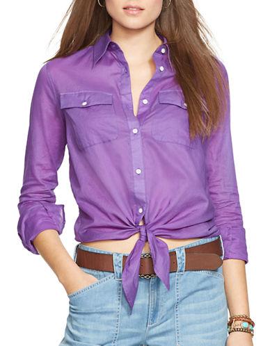 LAUREN RALPH LAURENSilk-Cotton Blend Shirt
