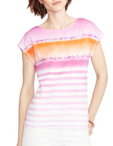 LAUREN RALPH LAURENPetite Striped Cotton T-Shirt