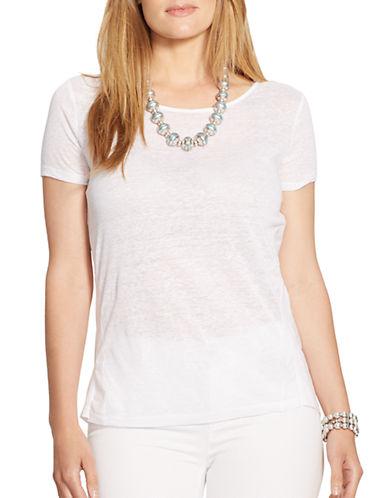 LAUREN RALPH LAURENPlus Linen Combo Shirt