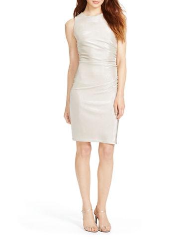 LAUREN RALPH LAURENRuched Metallic Dress
