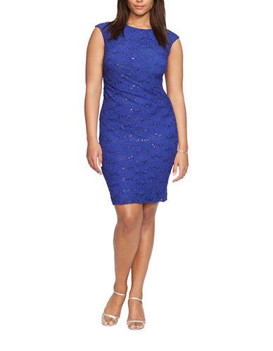 LAUREN RALPH LAURENPlus Sequined-Lace Dress