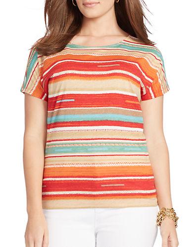 LAUREN RALPH LAURENPlus Striped Cotton T-Shirt