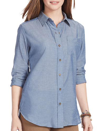 LAUREN RALPH LAUREN Chambray Cotton Shirt