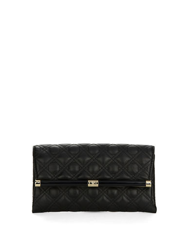 Dvf Caning Quilted Leather Clutch