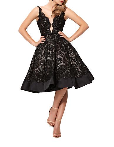 Mac Duggal Lace A-Line Dress $549.00 AT vintagedancer.com