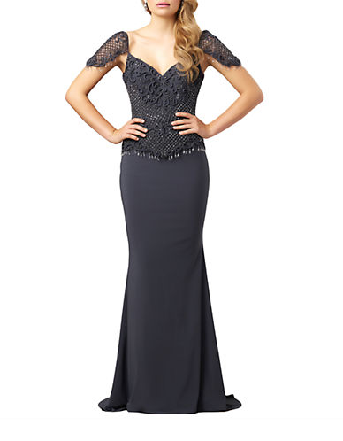 Embroidered Bodice Sweetheart Gown $337.04 AT vintagedancer.com