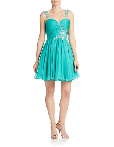 MAC DUGGALSequined Fit-and-Flare Dress