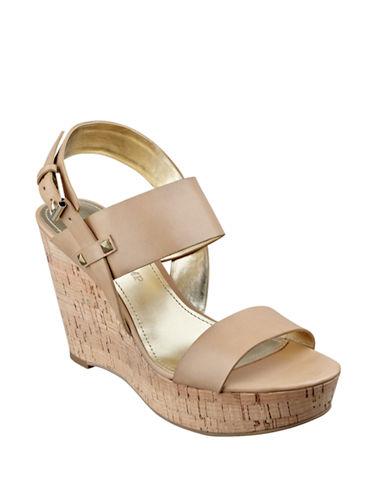 IVANKA TRUMPGareno Leather Platform Wedge Sandals