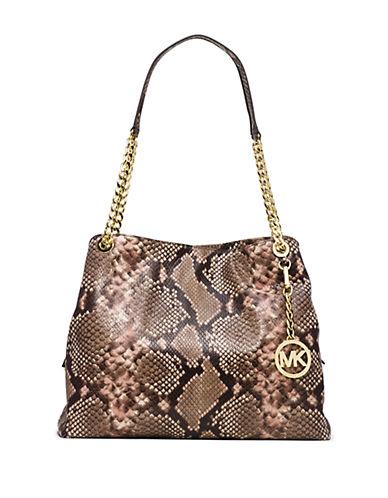 Michael Michael Kors Python Embossed Leather Satchel Bag