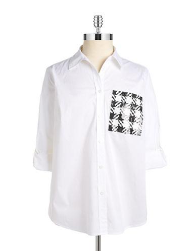 MICHAEL MICHAEL KORS PLUSPlus Sequined Button-Down Shirt