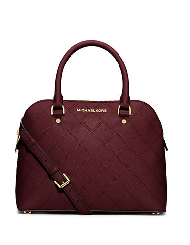 MICHAEL MICHAEL KORS Cindy Leather Medium Dome Satchel
