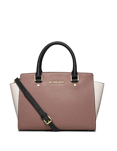 MICHAEL MICHAEL KORS Medium Bi Color Saffiano Leather Satchel