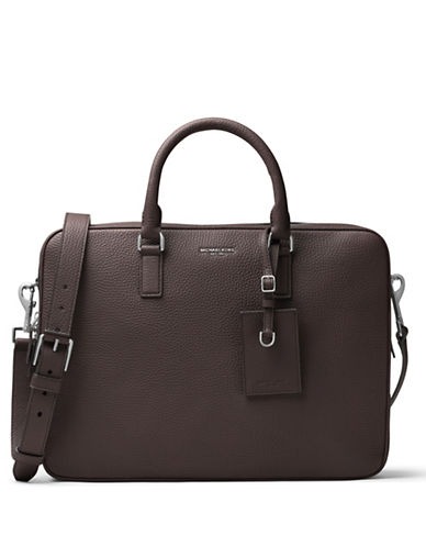 michael kors male bryant large leather briefcase