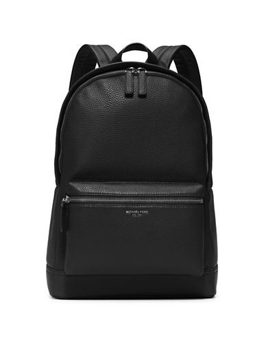 michael kors male bryant pebbletextured leather backpack