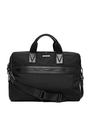 michael kors male large leathertrim nylon briefcase