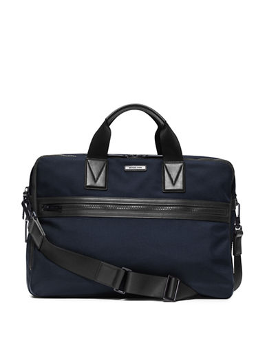 michael kors male large leathertrim nylon briefcase