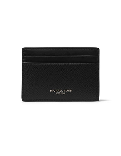 michael kors male harrison leather card case and money clip