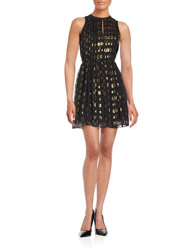 Michael Michael Kors Leones Spot Metallic Jacquard Dress