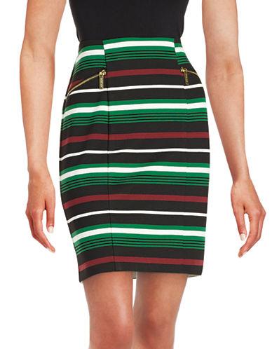 Michael Michael Kors Petite Striped Pencil Skirt