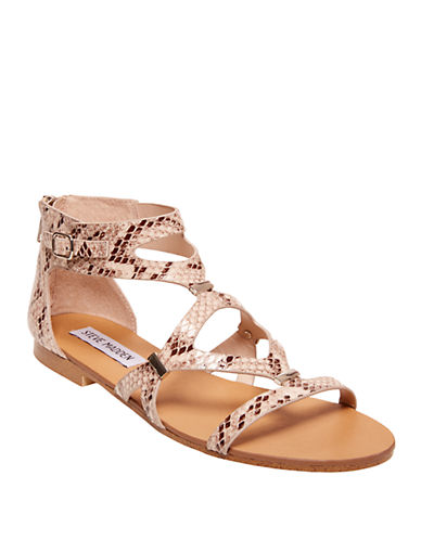 STEVE MADDENComly Faux Leather Embossed Sandals