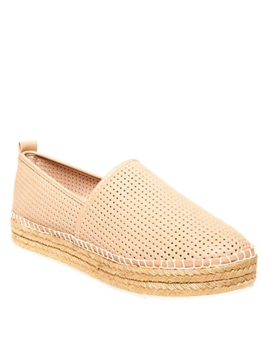 STEVE MADDENPerforated Faux Leather Slip-On Sneakers