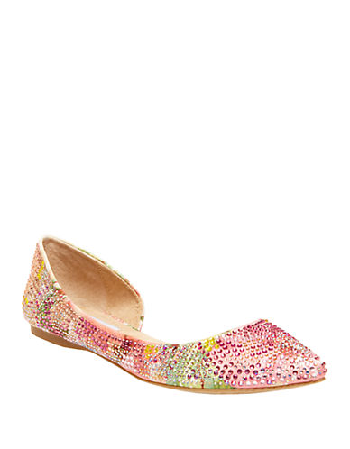 STEVE MADDENElsa Embellished Satin Flats