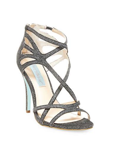 BETSEY JOHNSONTalia Metallic High-Heel Sandals