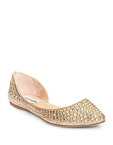 STEVE MADDENEligant Embellished D orsay Point Toe Flats