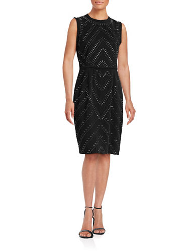 rachel rachel roy female embellished sheath dress