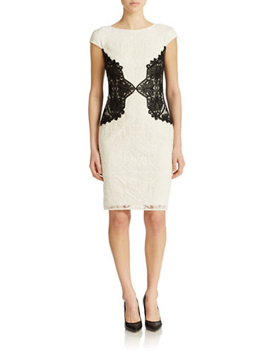 colorblock sheath dress lord taylor