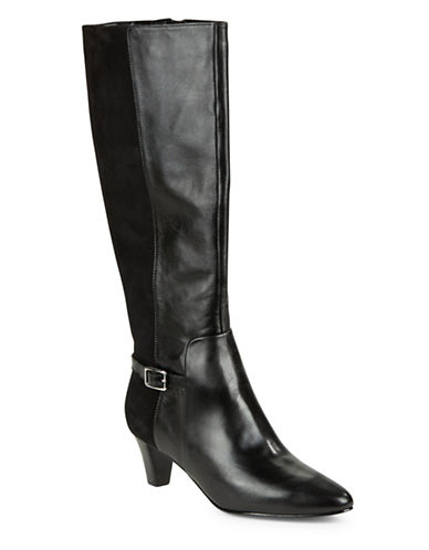 Cole Haan Sylvan Suede and Leather Boots