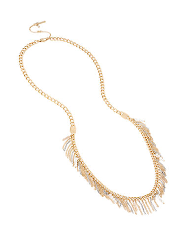 KENNETH COLE NEW YORK Fringe Worthy Two-Tone Long Necklace