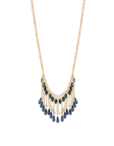 KENNETH COLE NEW YORK Blue Rays Dangling Beaded Necklace