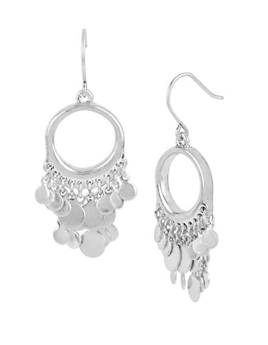 KENNETH COLE NEW YORK Mixed Metal Disc Chandelier Earrings