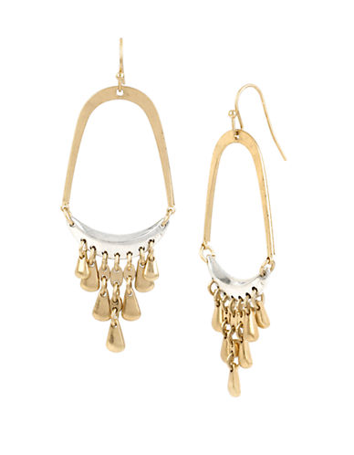 KENNETH COLE NEW YORK Mixed Metal Two-Tone Chandelier Earrings