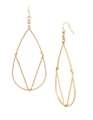 KENNETH COLE NEW YORK Mixed Metal Wire Wrapped Teardrop Earrings
