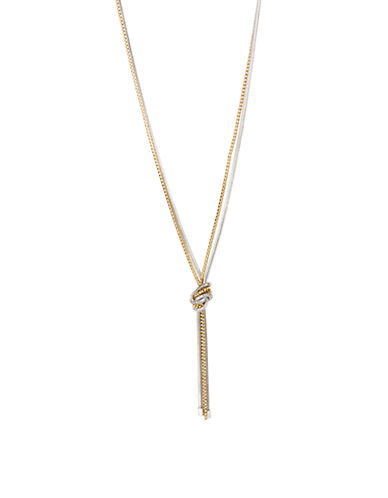 KENNETH COLE NEW YORK Mixed Metal Knotted Chain Necklace