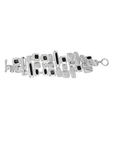 ROBERT LEE MORRIS SOHOOrganic Geometric Seprecious Stone Plaque Bracelet