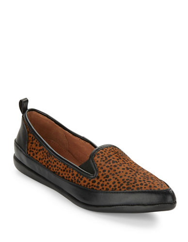 ADRIANNA PAPELL Lennox Leopard-Print Calf Hair Loafers