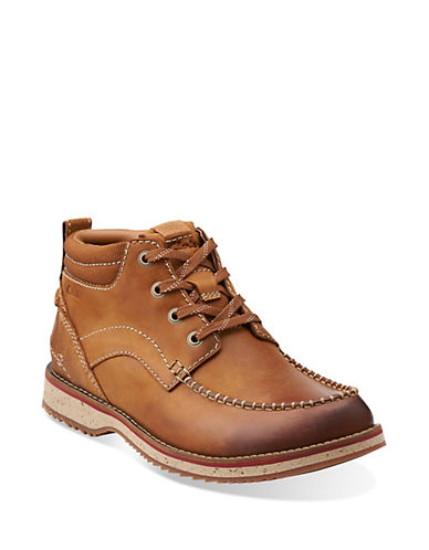 CLARKS Mahale Leather Mid Ankle Boots