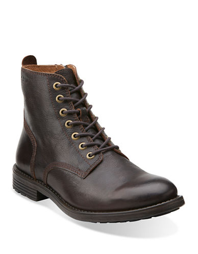 CLARKS Faulkner Leather Boots
