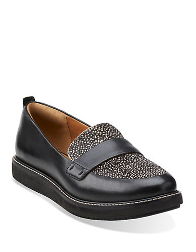 CLARKSGlick Avalee Calf Hair Platform Loafers